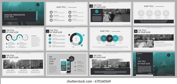 Green and gray elements for infographics on a white background. Presentation templates. Use in presentation, flyer and leaflet, corporate report, marketing, advertising, annual report, banner.
