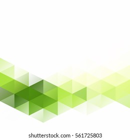 Green Grid Mosaic Background, Creative Design Templates