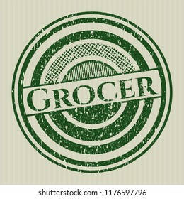 Green Grocer distressed rubber grunge texture seal