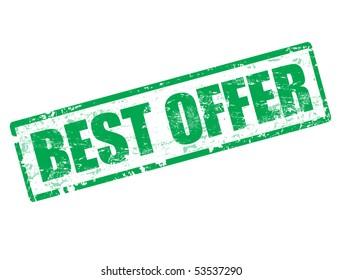 Green grunge best offer stamp