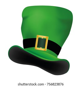 Green hat Patrick Day. Vector illustration