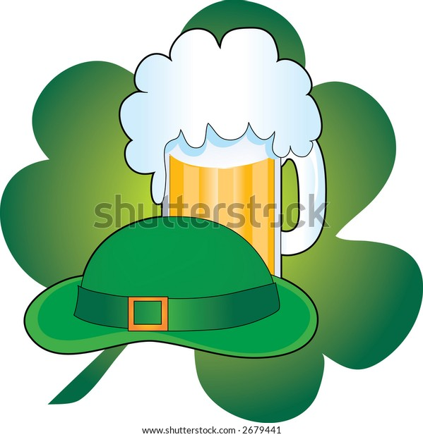 Green Hat with a stein of beer and a shamrock