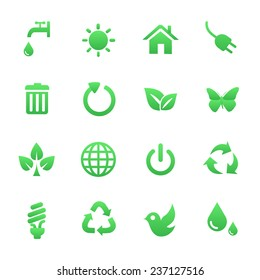 Green Health vector and icon set great for any use.