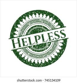 Green Helpless grunge seal