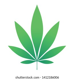 Green Hemp leaf vector illustration