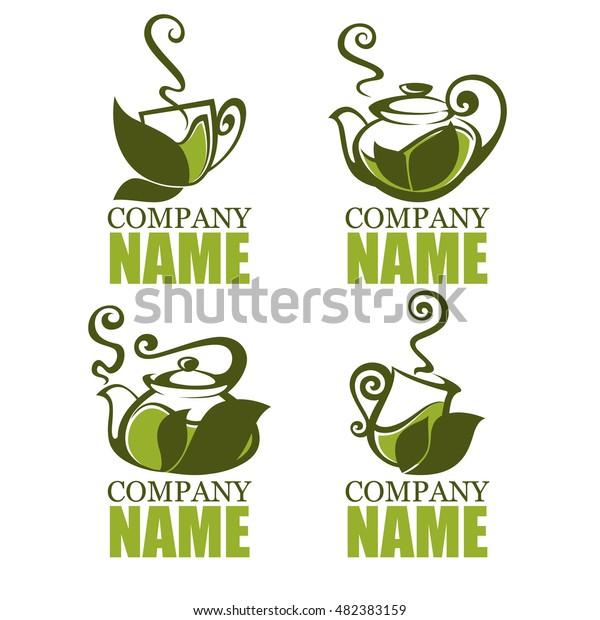 green herbal tea vector collection organic stock vector royalty free 482383159 shutterstock