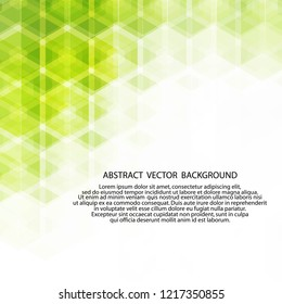 green hexagon background. polygonal style