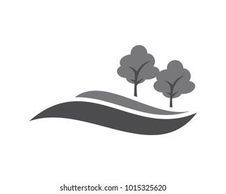 green hill vector sillhouette