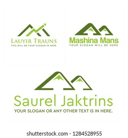 green hills mountain arrow graphs logo design concept suitable for Financial marketing Accounting business