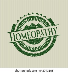 Green Homeopathy distress rubber texture