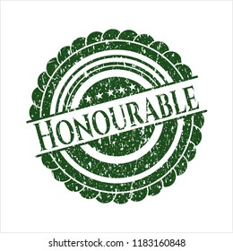 Green Honourable distressed rubber grunge texture seal