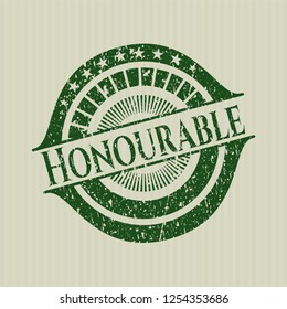 Green Honourable rubber stamp