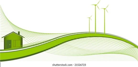 Green house - ecology theme