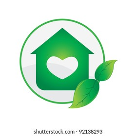 Awe Inspiring Home Heart Logo Images Stock Photos Vectors Shutterstock Home Remodeling Inspirations Genioncuboardxyz