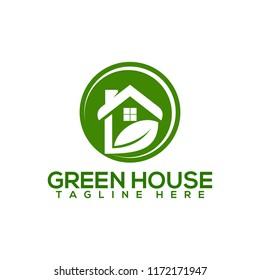 Green House Logo Design