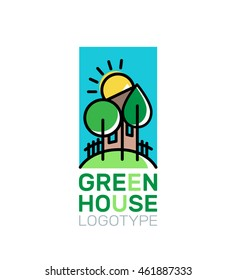 green house logo emblem on white background