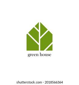 Green House Logo Template House logo design, Logo templates, Home logo