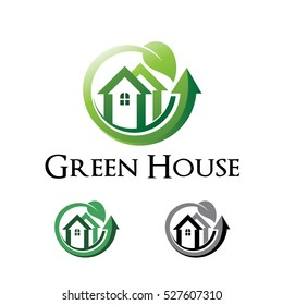 Green House Natural Home Property Logo