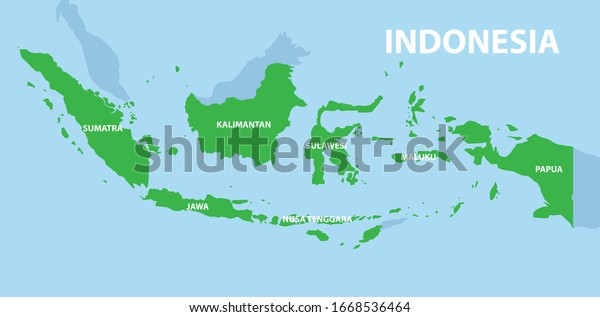 green indonesia country map flat design stock vector royalty free 1668536464 shutterstock