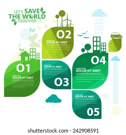 green infographic
