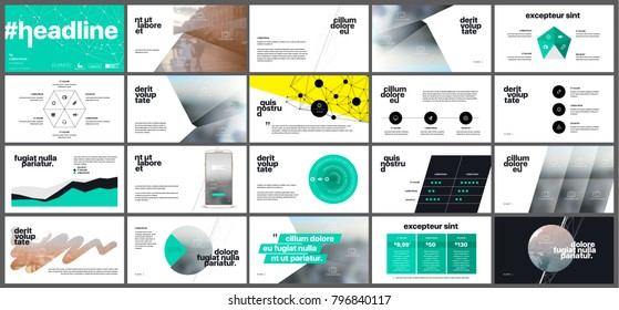 Green infographics elements on a white background. Vector Presentation templates. Use in presentation, flyer and leaflet, corporate report, marketing, advertising, annual report, banner.
