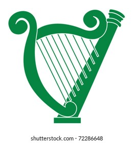 green Irish harp