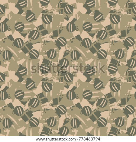 Green Khaki Beige Seamless Pattern Christmas Stock Vector (Royalty ...