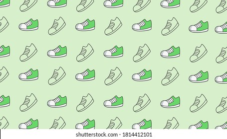the green kids shoes backdrop is perfect for book cover designs, wrapping paper or wall hangings