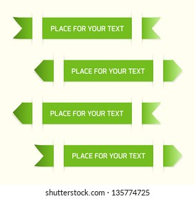 Green labels with place for your text