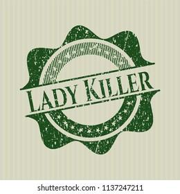 Green Lady Killer distress rubber grunge texture stamp