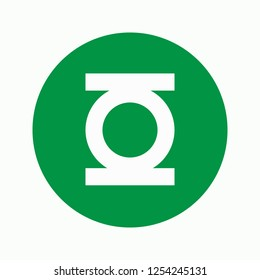 Green lantern icon. Super hero icon. Marvel icon. Strong. Vector illustration. EPS 10.