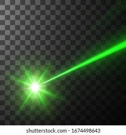 green laser beam. vector illustration