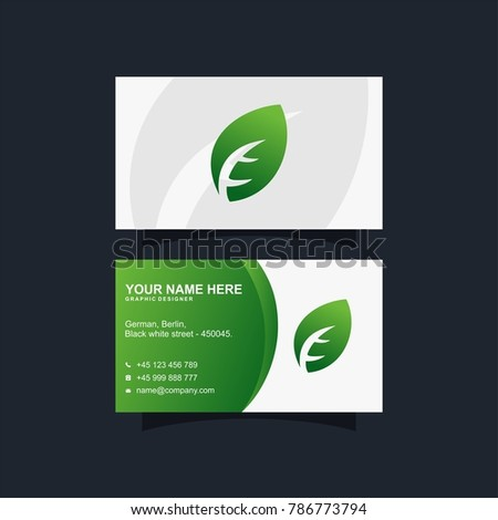 Green leaf business card vector design stock vector royalty free green leaf business card vector design colourmoves