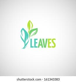 Green leaf. Design element