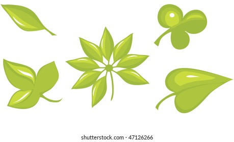 green leaf  and eco sign