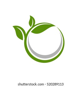 Green Leaf Ecology Logo Template
