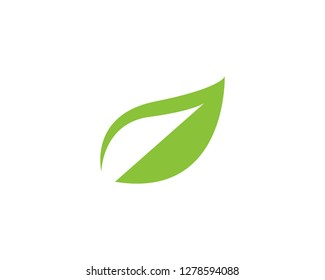 green leaf ecology nature element vector icon - Vector