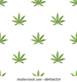 Green leaf of hemp.Hippy single icon in cartoon style vector symbol stock illustration web.