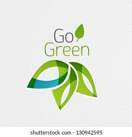 Green leaf icon concept