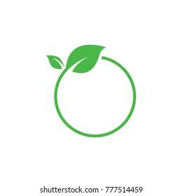 Green leaf logo design template