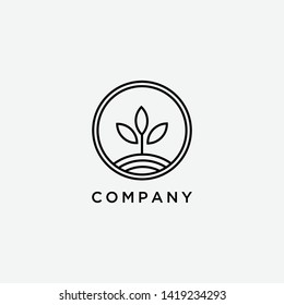 green leaf logo vector illustration template - Vector