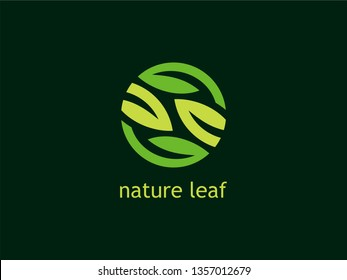 Green Leaf Nature Logo with a modern look are very easily placed in various kinds of Icons, Vectors, Favicons, Logo