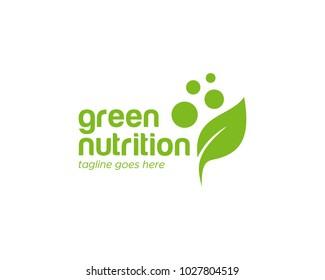 Green Leaf Nutrition Logo Template