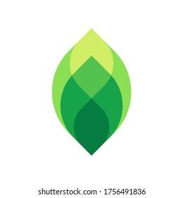 Green Leaf Plant Nature Farm Business Company Vector Logo Design