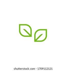 Green leaf vector logo illustration