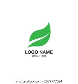 Green leaft ecology nature vector illustration