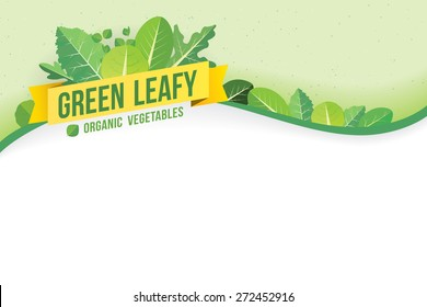 Green leafy background. Vector Illustration