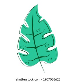 Green leave illustration. High quality nature vector.
