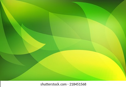 Green leaves. Abstract Vector background