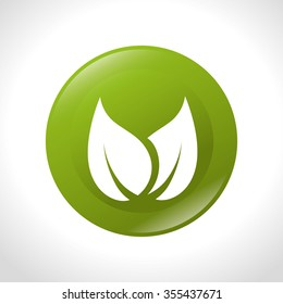 Green leaves or leaf graphic icon design, vector illustration eps10